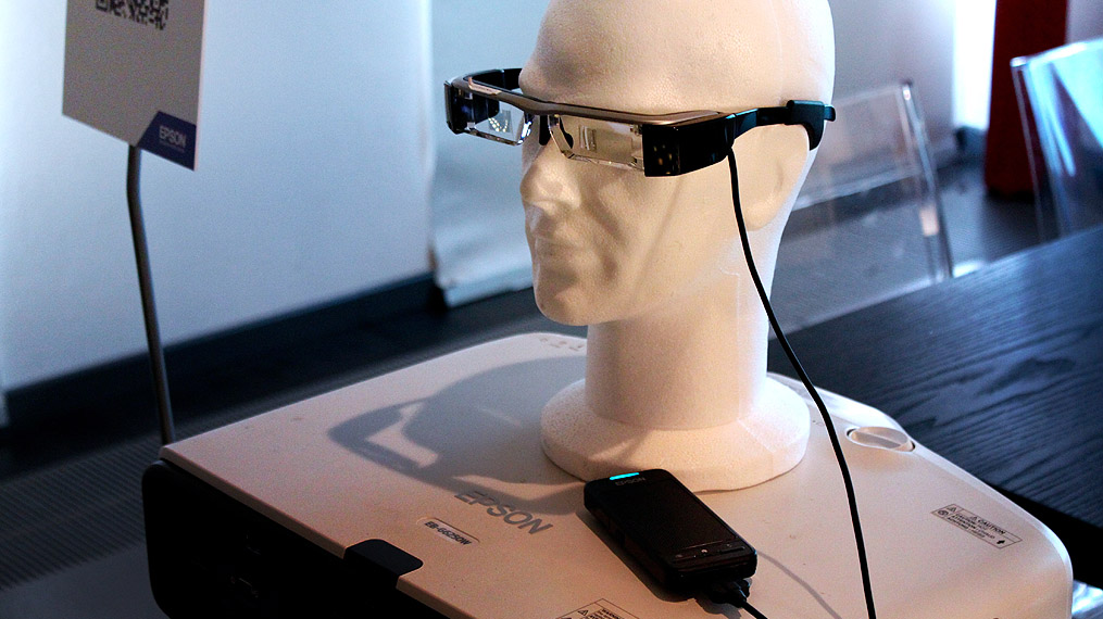 Epson Moverio BT-200 on a mannequin's head