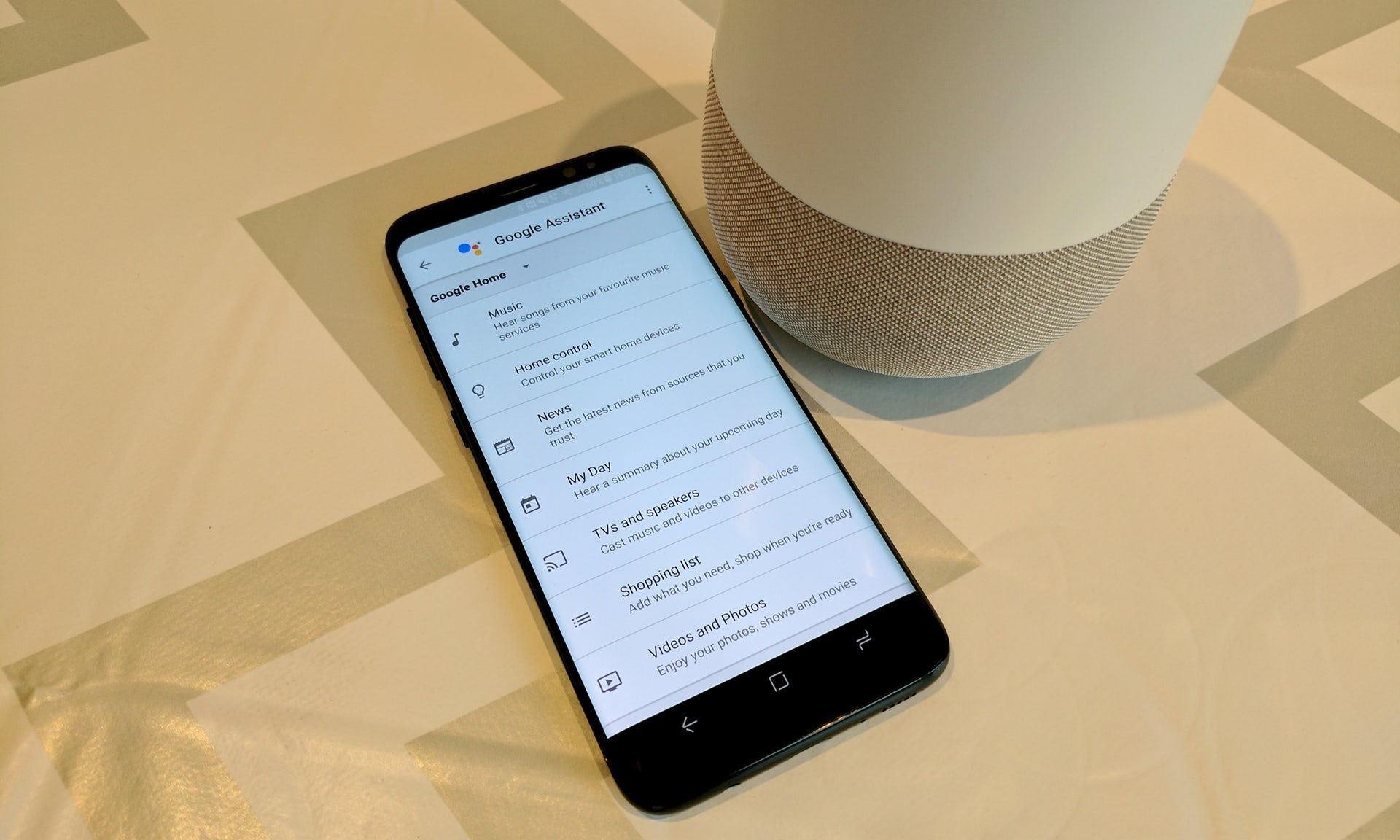 Configuring the various devices and services hooked up to Home is simple using the Google Home app for Android or iOS.