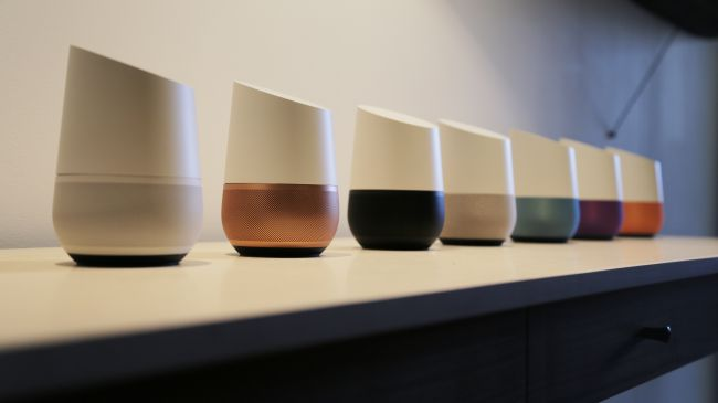 Google Home is available in seven different finishes.